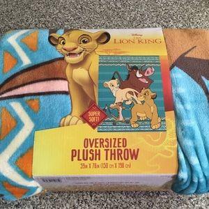 Oversized Plush Throw (Lion King)
